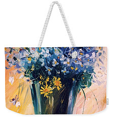 Violets Weekender Tote Bag by Mikhail Zarovny