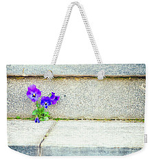 Weekender Tote Bag featuring the photograph Violets    by Silvia Ganora