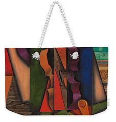 Violin And Guitar Weekender Tote Bag by Juan Gris