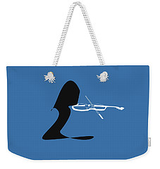 Weekender Tote Bag featuring the digital art Violin In Blue by Jazz DaBri