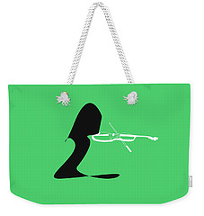 Weekender Tote Bag featuring the digital art Violin In Green by Jazz DaBri