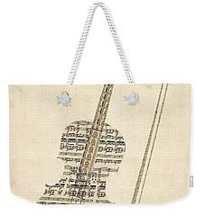 Violin Old Sheet Music Weekender Tote Bag