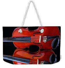 Violin Reflection Weekender Tote Bag by Garry Gay