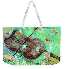 Violinist In The Garden Weekender Tote Bag by Haleh Mahbod