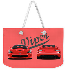 Viper Weekender Tote Bag by Mark Rogan