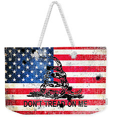 Viper N Bullet Holes On Old Glory Weekender Tote Bag