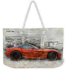 Weekender Tote Bag featuring the photograph Viper Zero To 60 by Joel Witmeyer