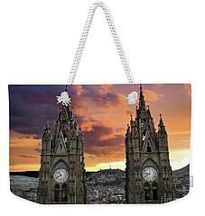 Virgen De El Panecillo And Basilica Del Voto Nacional IIi Weekender Tote Bag