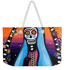 Virgen Guadalupe Muertos Weekender Tote Bag by Pristine Cartera Turkus