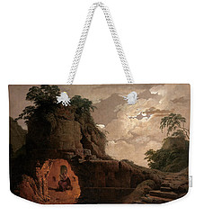 Virgil's Tomb By Moonlight With Silius Italicus Declaiming Weekender Tote Bag by Joseph Wright of Derby