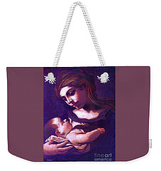 Virgin Mary And Baby Jesus, The Greatest Gift Weekender Tote Bag