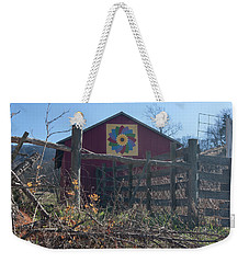 Virginia Barn Quilt Series Xxi Weekender Tote Bag