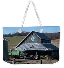 Virginia Barn Quilt Series Xxii Weekender Tote Bag