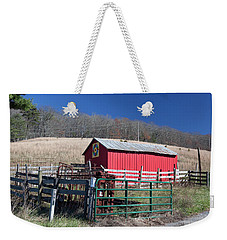 Virginia Barn Quilt Series Xxiv Weekender Tote Bag