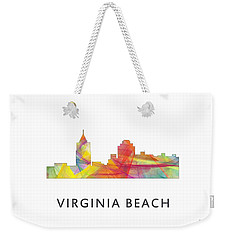 Virginia Beach  Virginia Skyline Weekender Tote Bag by Marlene Watson