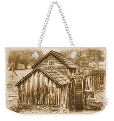 Virginia Country Roads - Mabry Mill No. 23 Sepia - Blue Ridge Parkway, Floyd County Weekender Tote Bag