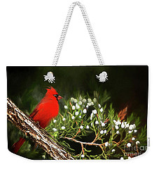 Weekender Tote Bag featuring the photograph Virginia State Bird by Darren Fisher