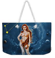Virgo And The Stars Weekender Tote Bag