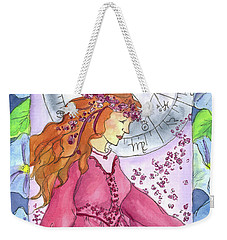 Weekender Tote Bag featuring the painting Virgo by Cathie Richardson