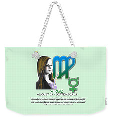 Virgo Sun Sign Weekender Tote Bag