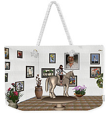 Weekender Tote Bag featuring the mixed media Virtual Exhibition Horsewoman 13 by Pemaro
