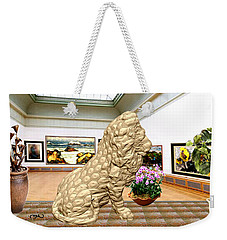Virtual Exhibition - Statue Of A Lion Weekender Tote Bag by Pemaro