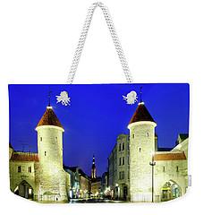 Weekender Tote Bag featuring the photograph Viru Gate by Fabrizio Troiani