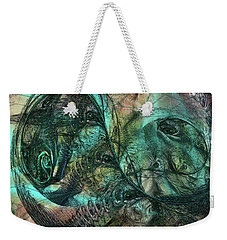Weekender Tote Bag featuring the digital art Virulent Germination by Rhonda Strickland