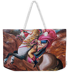 Weekender Tote Bag featuring the painting Vision by Itzhak Richter