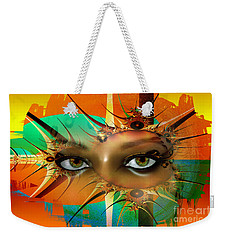 Weekender Tote Bag featuring the digital art Vision by Shadowlea Is