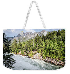 Weekender Tote Bag featuring the photograph Visit Montana by Margaret Pitcher