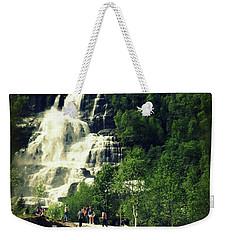 Visit To Tvindefossen Falls Weekender Tote Bag