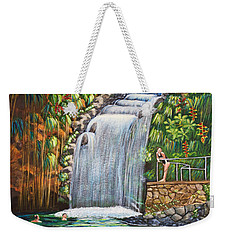 Visitors To The Falls Weekender Tote Bag