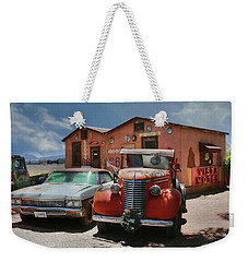 Weekender Tote Bag featuring the photograph Vista Motel by Lori Deiter