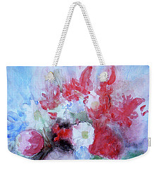 Weekender Tote Bag featuring the painting Vitality Still Life by Jasna Dragun