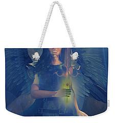 Weekender Tote Bag featuring the painting Vitiligo Angel by Suzanne Silvir