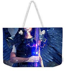Weekender Tote Bag featuring the painting Vitiligo Angel2 by Suzanne Silvir