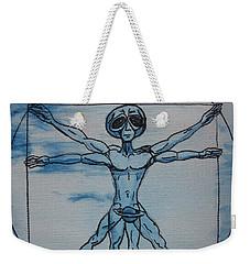 Vitruvian Alien Weekender Tote Bag