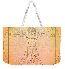 Weekender Tote Bag featuring the photograph Vitruvian Man Beach by Robert G Kernodle