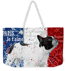 Weekender Tote Bag featuring the photograph Vive Le Frenchie by Barbara Chichester