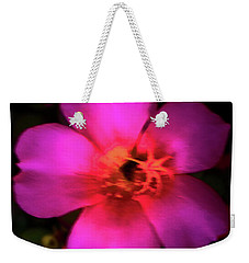 Vivid Rich Pink Flower Weekender Tote Bag
