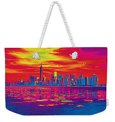 Vivid Skyline Of New York City, United States Weekender Tote Bag