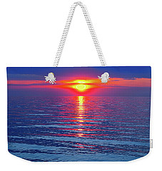 Vivid Sunset - Emerson Quote - Square Format Weekender Tote Bag