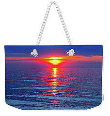 Vivid Sunset - Square Format Weekender Tote Bag by Ginny Gaura