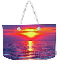 Vivid Sunset - Vertical Format Weekender Tote Bag by Ginny Gaura