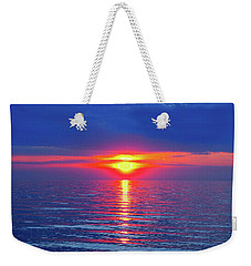 Vivid Sunset With Emerson Quote Weekender Tote Bag