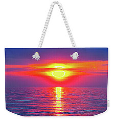Vivid Sunset With Emerson Quote - Vertical Format Weekender Tote Bag
