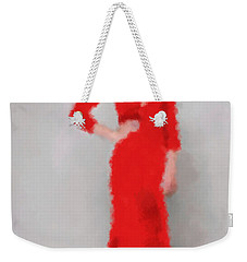 Weekender Tote Bag featuring the digital art Vivienne by Nancy Levan