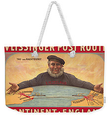 Vlissinger Post Route - Zeeland Maritime Company Poster - London To Flushing Ship Route Weekender Tote Bag