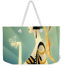 Vogue - Bird On Hand Weekender Tote Bag